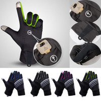 Unisex Damen Herren-Trainings-Handschuhe Bodybuilding-Training Fitness Gymnastik-Sport-Touch Screen Winter Handschuhe