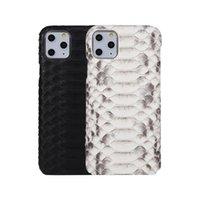 Echte reale natürlicher Python Skin Ledertasche für iPhone 11 11 Pro Max Bezug Zurück