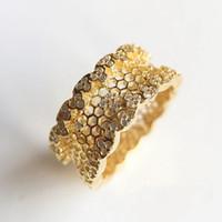 Oro giallo 18 carati placcato anello di nozze imposta scatola originale per Pandora Argento 925 Honeycomb Anello delle donne del merletto ragazze regalo ANELLO