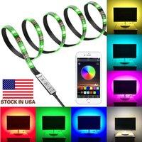 Lager i US 5050 DC 5V USB RGB LED-remsa 90led Light Strips Flexibelt Vattentät Tape 9.8FT 3M Remote för TV-bakgrund