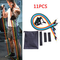 11pcs / set Pull Liitness Exerces Rope Resistance Pands Latex Pedls Excer Body Training Elastic Band