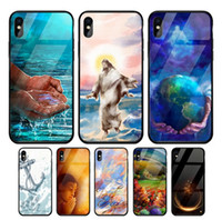 Tempered Glass Cell Phone Case For iPhone X XS XR XSMAX 10 8...