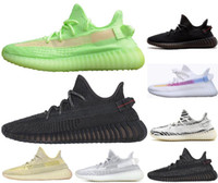 Nero statico riflettente Antlia Argilla True Form Hyperspace Zebra bagliore nel buio Kanye West Mens Running Shoes Bred Sneakers Womens Designer