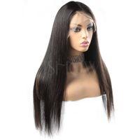 Wondero personalizarse WD2020SH04 cordón del pelo humano recta frontal color natural del cabello Remy peluca europea