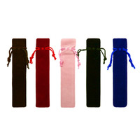 Pen único saco Fountain Pens Pouch Artesanais flanela Bag Lápis Marcador Pen Bolsa Titular Armazenamento luva Cosmetic Pouch DBC 5 cores VT0204