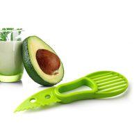 3-en-1 aguacate máquina de cortar de la fruta del cortador cuchillo corer Pulp separador de manteca de karité cuchillo de cocina Ayudante de cocina Accesorios Gadgets Herramientas RRA2832-7