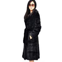 새로운 겨울 여성 패션 긴 가짜 모피 코트 재킷 여성 플러스 크기 벨트 모조 밍크 모피 겉옷 4xl 5xl 6xl