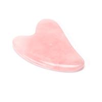 Розовый Кварц Нефрит Гуаша Доска Розовый Натуральный Камень Скребок Китайский Гуа Ша Инструменты Для Лица Шеи Спины Тела Иглоукалывание Давление Терапия