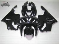 Schwarze Motorradverkleidungen für Kawasaki Ninja ZX7R 96-03 ZX-7R ZX 7R 1996 1997 1998 1999 2000 2001 2002 2003 Körperreparatur-Verkleidungs-Kits