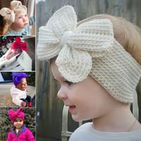 Bébé Lapin Bandeau en coton élastique bowknot cheveux Filles bowknot bande du nouveau-né Bow