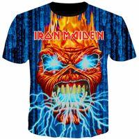 Hot 3D T Shirt Iron Maiden Stampa T Shirt Uomo Donna Coppia Maglietta Heavy Metal T-Shirt Skull Top Tees Manica corta