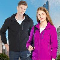 Estiramiento chaquetas delgadas Parejas impermeable viento-resistente chaqueta del otoño de las mujeres de una sola capa con capucha caliente al aire libre del alpinismo para hombre