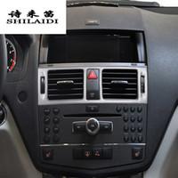 자동차 스타일링 AC 전면 공기 콘센트 트림 프레임 벤츠 C 클래스 W204 인테리어 자동 액세서리
