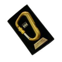 Творческий карабин USB прикуриватель ветрозащитный личность огонь электрический провод горячей подарочный пакет