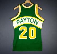 Erkekler Gençlik kadınlar Vintage Gary Payton Mitchell Ness 94 95 Koleji basketbol Jersey Boyut veya özel herhangi bir ad veya numara formayı-4XL S