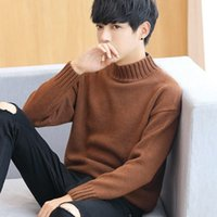 Men' s sweater turtleneck sweater Korean men' s wear...