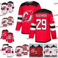 2019 New Jersey Şeytanlar Mackenzie Blackwood Dikişli Formalar Alternatif Beyaz Gömlek Özelleştirmek # 29 Mackenzie Blackwood Hokeyi Formalar S-XXXL