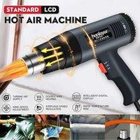 220V 2000W حرارة بندقية متغير 2 سرعة 60-600 ° C درجات الحرارة دقيقة العرض التحكم الكهربائي الساخن الهواء بندقية مع الرقمي