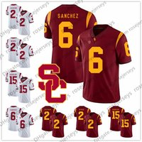 USC Trojans # 2 Adoree Jackson Robert Woods 6 Mark Sanchez 10 Brian Cushing 15 Nelson Agholor 8 Nick Perry Rouge Blanc Vintage Jersey