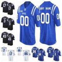 Duke Blue Devils Jerseys T.J. Rahming Jersey Myles Hudzick Johnathan Lloyd Nicodem Pierre Aaron Young College Football camisas personalizadas do ponto