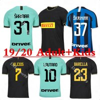 Adult+ Kids kit 2019 inter 3rd black soccer jersey 19 20 LUKA...