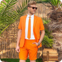 Mens Suits Orange Wedding Suits Bridegroom Costume Pour Homm...