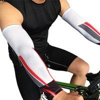 1 Par Golf Deportes del codo del cojín de protección UV calentadores del brazo Funcionar Ciclismo Baloncesto Voleibol mangas del brazo de la bicicleta