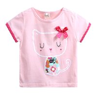 Baby Girl Summer Cotton T- Shirt Children European American S...