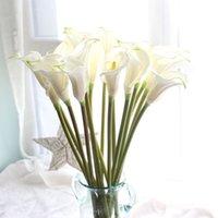 """5 teile / los 26,4 """"Große Größe Calla Lily Künstliche Blumen Hochzeit Bouquet Real Touch Pu Calla Lilien Gefälschte Zweige Dekoration C18112601"""