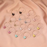 Neuer Schmetterling-hängende Ohrringe Acryl Schmetterlings-Band-Tier-Charme-Ohrring-Frauen Ohrschmuck Geschenke für Mädchen