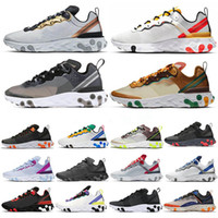 Nike air React 87 55 Total Orange React Element 87 Scarpe da corsa per donna uomo Dark Grey Blue Chill Trainer 87s Sail Green Mist Sneakers sportive