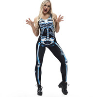 Chamsgend Femme Body Body Body Sexy Bonefly Imprimer Fashion Sling Slim Halloween Costumes Jumpsuit à la cheville C30821