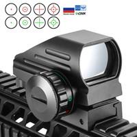 Réflexe tactique Red Green Laser 4 Reticles Holographique Holographique Dot Sperme Spectacle Airgun Vue Chasse 11mm / 20mm Rail Mount Ak