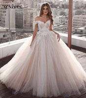 Ball Gown Sweetheart Off Shoulder Wedding Dresses Appliques ...