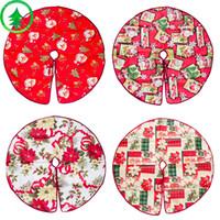 Decorações de natal Saia Da Árvore Dos Desenhos Animados Impressão Decoração Árvores Vestido De Papai Noel Cabeça Flores Saias Padrão Nova Chegada 12 5xb L1