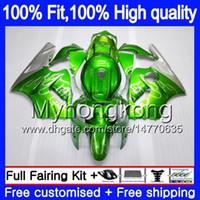 Injectie OEM voor Kawasaki ZX1200 ZX 12R 1200CC 2002 2003 2004 2005 2006 224My.21 Silver Green ZX 12 R ZX-12R ZX12R 02 03 04 05 06 Kuip