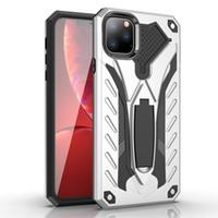 Fantasma Cavaleiro Anti-drop híbrido Phone Case Armadura Kickstand Mobile para iPhone 11 pro Max iPhone X XS XR XSMAX 6 7 8 Plus