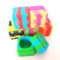 9ml силиконовый концентрат Контейнер Квадратный куб Non-Stick Food Grade Safe Масло Bho Мазки Воск Контейнер для хранения баночки