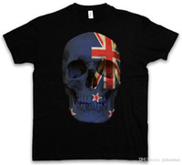 2018 Summer Style CLASSIC NEW ZEALAND SKULL FLAG CAMISETA - Camisa Biker MC Banner Sizes S - 5XL Venta caliente Ropa casual