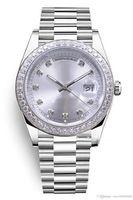 S127 Мужские часы, мастер календарь, M228396TBR, президент, белый корпус из нержавеющей стали, алмазная серебряная тарелка, сапфировое стекло