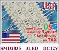 Injeção de módulo de luz LED SMD 2835 3LED 1.2W 150LM PCB de alumínio 60mm * 13mm DC12V IP65 Enviar de nós Sem imposto transporte rápido