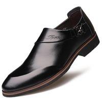 2019 новый стиль скрытый лифт 6 см мужская кожаная обувь бизнес-формальная одежда Острый носок кожаная обувь лифт обувь