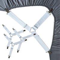 Drap élastique réglable clip Housse de matelas d'angle Porte-clip de fixation sangles Grippers kit crochets élastiques