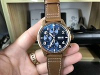 Men' s Luxury Top Quality Pilot Chronograph Rose gold Bl...