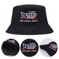 Balde de Chapéu de Trump 2020 Chapéu bordado Mantenha a América Grandes chapéus Trump Tampão EUA Presidente republicano Ampla Brim Pescador Ljja3589