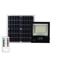 Solar LED Light Spotlight 30W 50W 100W Super Bright Solaire Panneau à panneaux d'alimentation imperméable Lampe de rue IP67 avec télécommande
