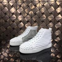 أعلى 2019 حذاء أحمر أسفل جي زد 19ss ارتفاع جورب دونا المسامير قيعان أحذية رياضية الرجال chaussures أعقاب الرجال النساء أحذية عالية منخفضة مصمم برشام