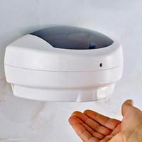 500ML الصابون السائل موزع الصابون الأشعة تحت الحمراء الاستشعار موزعات الصابون التلقائي الصيدلي الحائط اليد المطهر الصيدلي جل ZZA2296 6PCS