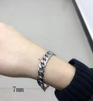man chain on hand cuban link bracele stainless steel accessories silver rock charm friendship bracelets for women chain on hand