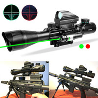 HQ 4-12X50 EG Tactical Rifle Optical Sight Scope Sets & Holographic 4 Reticle Sight Red Green Dot Laser JG8 20mm Picatinny Rail Mount FREE